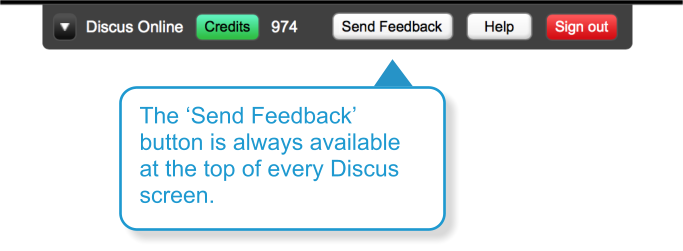 The Send Feedback button